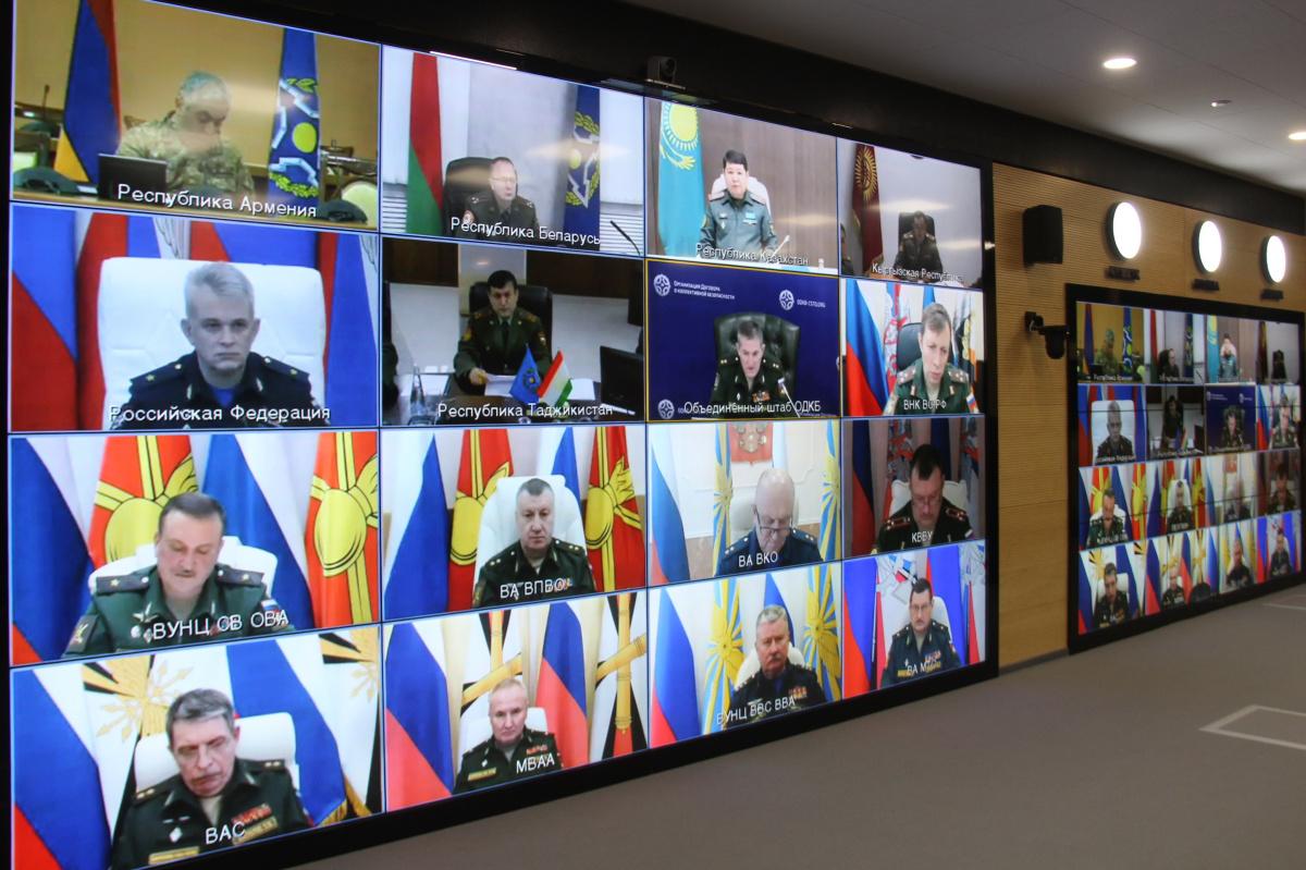 В Объединенном штабе ОДКБ в режиме видеконференции состоялось заседание рабочей группы при Совете министров обороны ОДКБ по координации совместной подготовки военных кадров и научной работы