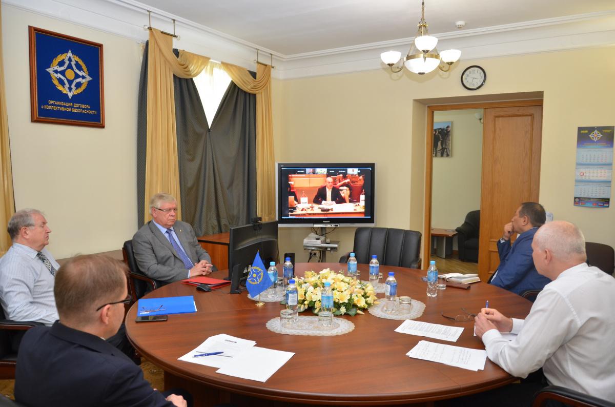 Заместитель Генерального секретаря ОДКБ Валерий Семериков принял участие в Контртеррористической видеоконференции 2020 г. в масштабах всей ОБСЕ (Вена, Австрия)