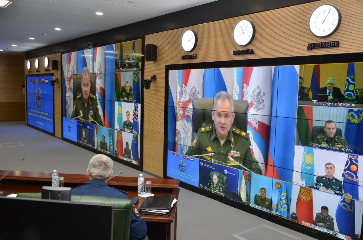 Совет министров обороны ОДКБ обсудил военно-политическую обстановку на границах Организации, а также предложения по совместному противодействию вызовам и угрозам коллективной безопасности военного характера