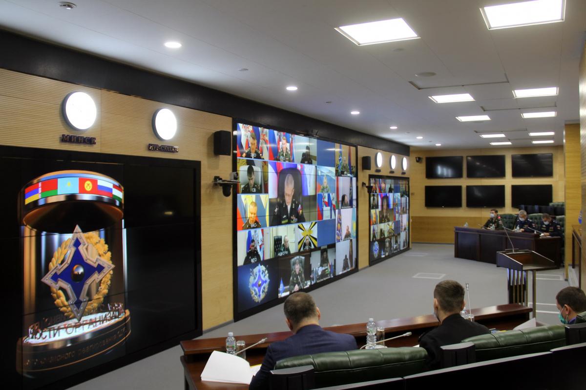 В Объединенном штабе ОДКБ в режиме видеоконференции состоялись консультации по плану совместной подготовки органов управления и формирований сил и средств системы коллективной безопасности на 2022 год