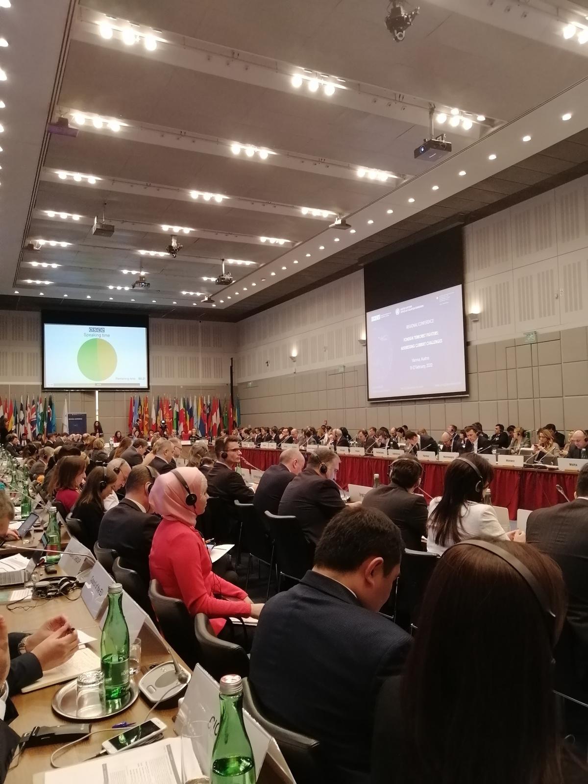 Делегация ОДКБ приняла участие в Совместной антитеррористической конференции ООН и ОБСЕ в Вене